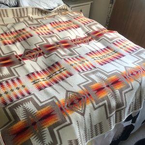 1970s PENDLETON BEAVER STATE Wool Reversible 68x80